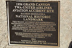 1956 Grand Canyon mid-air collision NRHP plaque.jpg