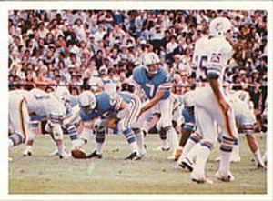 1978 NFL season - Oilers quarterback Dan Pastorini playing in the 1978 AFC Wild Card game