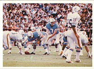 History of the Houston Oilers - Quarterback Dan Pastorini led the Oilers to the playoffs in 1978 (pictured) and 1979.