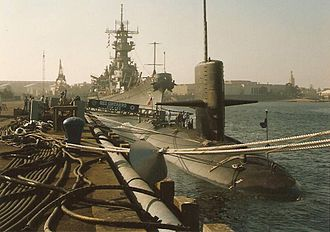 USS Guitarro (SSN-665) - USS Guitarro (SSN-665) hosting the first tour of a US nuclear submarine by high-ranking Russian officials