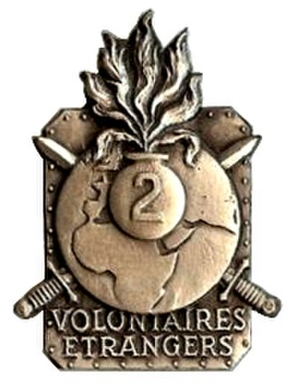 22nd Marching Regiment of Foreign Volunteers - Regimental Insignia of the 22<sup>e</sup> RMVE