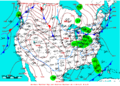 2007-01-25 Surface Weather Map NOAA.png