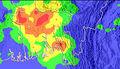 2007 Bangladesh mudslides TRMM.jpg