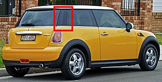 Nolder - Nolder, highlighted on C-pillar of Mini Cooper