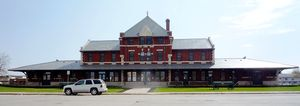 Dauphin, Manitoba - The historic Dauphin Canadian Northern Railway Station was built in 1912 and is Manitoba Provincial Heritage Site No. 100.