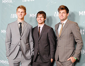 Foster the People - Foster the People at the 2011 MuchMusic Video Awards, from left to right: Pontius, Foster, and former bassist Cubbie Fink