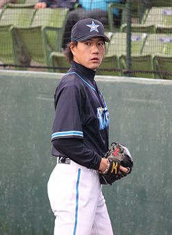 20120310 masanori Hayasi pitcher of the Yokohama BayStars, at Seibu Dome.JPG