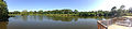 2014-08-27 15 47 48 Panorama of Wargo Pond from the Hildick-Smith Dock in the Stony Brook-Millstone Watershed Association, New Jersey.JPG