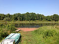 2014-08-27 15 49 10 The boat launch at Wargo Pond in the Stony Brook-Millstone Watershed Association, New Jersey.JPG