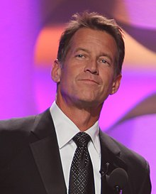 2014 AHA Hero Dog Awards Celebrity Hosts James Denton and Beth Stern cropped.jpg