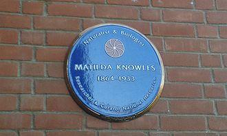 Matilda Cullen Knowles - Plaque in the National Botanic Gardens of Ireland