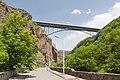 2014 Prowincja Wajoc Dzor, Dżermuk, Most nad kanionem rzeki Arpa (01).jpg
