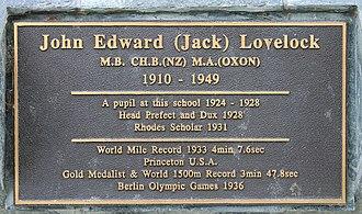 Jack Lovelock - Image: 2015 01 05 08928 Timaru