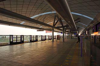 MRT Purple Line - The Platform level of Bang Phlu MRT Station