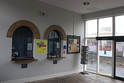 2018 at Carnforth station - inside the ticket office.JPG