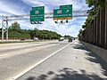 2019-05-21 11 46 23 View north along Interstate 97 (Glen Burnie Bypass) at Exit 13 (Maryland State Route 174, Quarterfield Road) on the edge of Severn and Glen Burnie in Anne Arundel County, Maryland.jpg