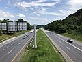 2019-07-17 17 06 32 View south along Maryland State Route 166 (Metropolitan Boulevard) from the overpass for Selford Road in Arbutus, Baltimore County, Maryland.jpg