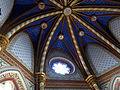 207 Santuari de la Misericòrdia (Canet de Mar), cambril de la marededéu, rosassa i sostre.JPG