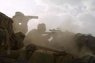 United States Marine Corps Scout Sniper - Scout Snipers from the 26th Marine Expeditionary Unit (Special Operations Capable) in Djibouti as part of Combined Joint Task Force – Horn of Africa (July 15, 2003)