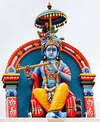 Krishna - Krishna statue at the Sri Mariamman temple, Singapore