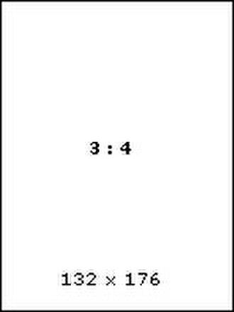 Wallpaper (computing) - Image: 3 4 ratio mobile wallpaper example