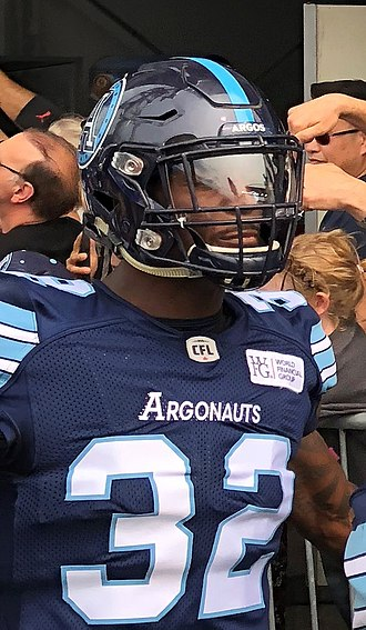 James Wilder Jr. - Wilder Jr. before a Toronto Argonauts game in 2018.