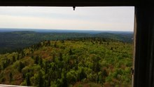File:360 View from top of Ellis Fire Tower - Ishpatina Ridge - 2015.webm