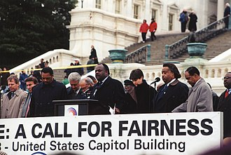 Al Sharpton - Anti-Impeach Rally in support of President Bill Clinton in 1998