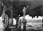 466 Squadron RAAF Halifax maintenance at Leconfield AWM UK0963.jpg