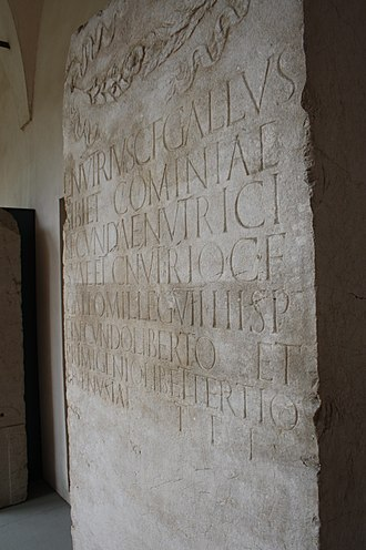 Wet nurse - A funerary stele (akin to a gravestone) erected by Roman citizen Lucius Nutrius Gallus in the 2nd half of 1st century AD for himself, his wetnurse, and other members of his family and household