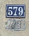 579 & 583 house numbers (Villefranche-sur-Saône).jpg