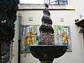 618 Casa Museu Benlliure (València), jardí, pinacle i plafons de rajoles.jpg