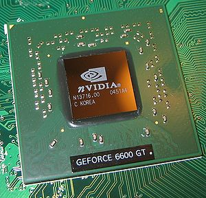 A graphics processing unit on an Nvidia GeForc...