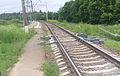 74 km BMO railway platform (view from level crossing).JPG