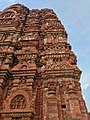 7th century reliefs on brick walls, Lakshmana Hindu temple, Sirpur Chhattisgarh India 3.jpg