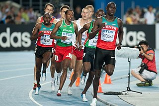 800 metres middle-distance running event