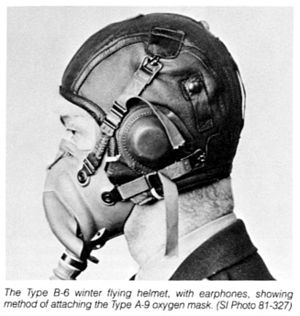 Flight helmet - Image: A 9 oxygen mask
