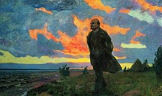 В. И. Ленин в Разливе в 1917 году
