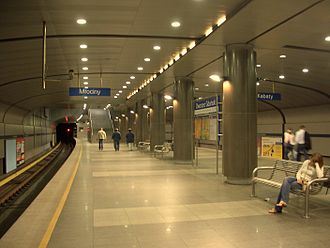 Dworzec Gdański metro station - Image: A17dwgdanski 1