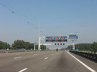 A29 motorway (Netherlands) - Northbound A29 near exit 20.