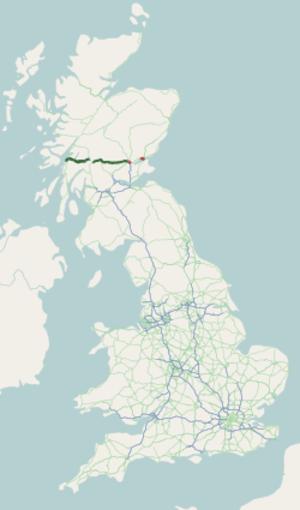 A85 road - Image: A85 road map