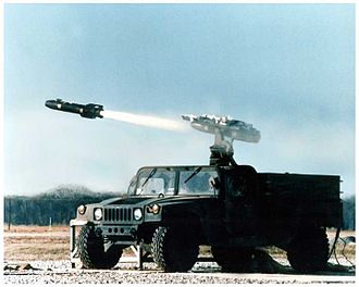 AGM-114 Hellfire - AGM-114 Ground Launched Hellfire-Light (GLH-L) missile system on a modified HMMWV chassis