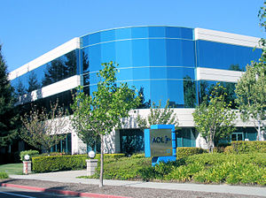 English: AOL's Silicon Valley office in Mounta...