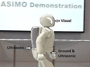 ASIMO - Image: ASIMO environment identifying sensors