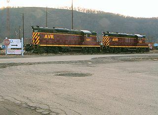 P&W Subdivision rail line in western Pennsylvania