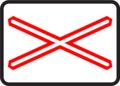 A 30a - Výstražný kríž pre železničné priecestie jednokoľajové.png