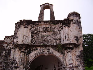 Malaysia - Fort A Famosa in Melaka built by the Portuguese in the 16th century.