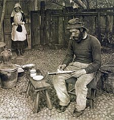 A Fisherman At Home, Peter Henry Emerson, 1887.jpg