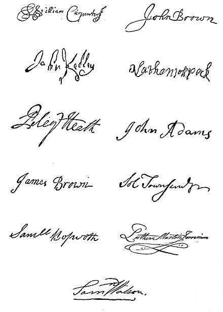 A signature is a person's own handwritten name