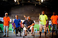 A local disability theatre group perform a play about the daily prejudices faced by people living with disability at the Wan Smolbag Theatre and Youth Centre, Port Vila, Vanuatu, February 2013. Photo- Graham Crumb for DFAT (12779187203).jpg